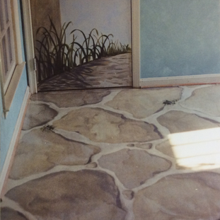 Residential - painted concrete floor - O