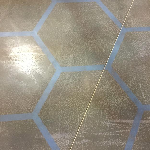 Nandos Peri Peri stencil concrete floor