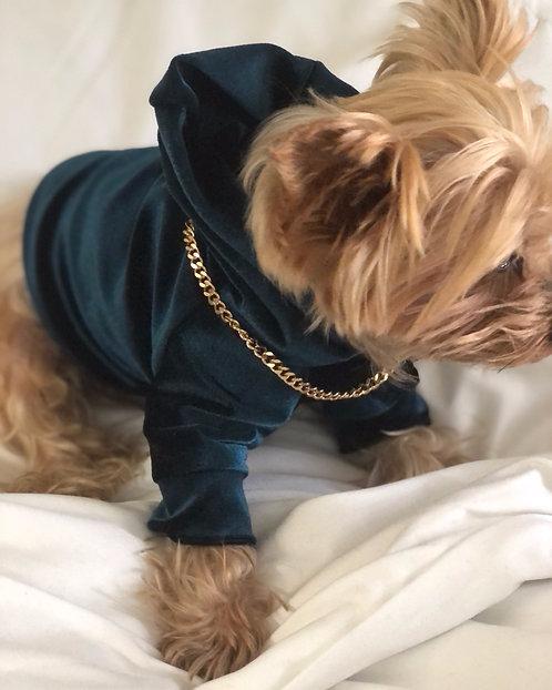 Puppy Velour Street Hoodie