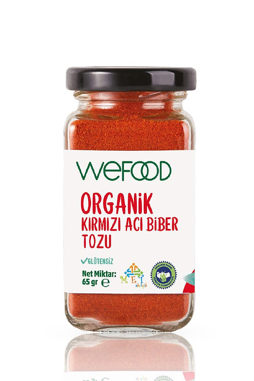 Wefood Organik Acı Kırmızı Toz Biber 65gr
