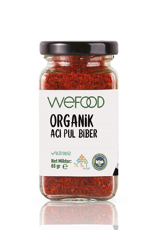 Wefood Organik Acı Kırmızı Pul Biber 65gr
