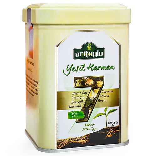 Arifoğlu Yeşil Harman Teneke Kutu Bitki Çayı 100gr