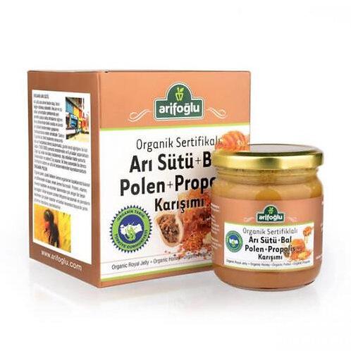 Arifoğlu Organik Arı Sütü Bal Polen Propolis 230gr