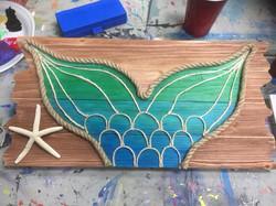 Mermaid Wood Board