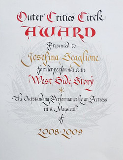 Outer Critics Circle Award