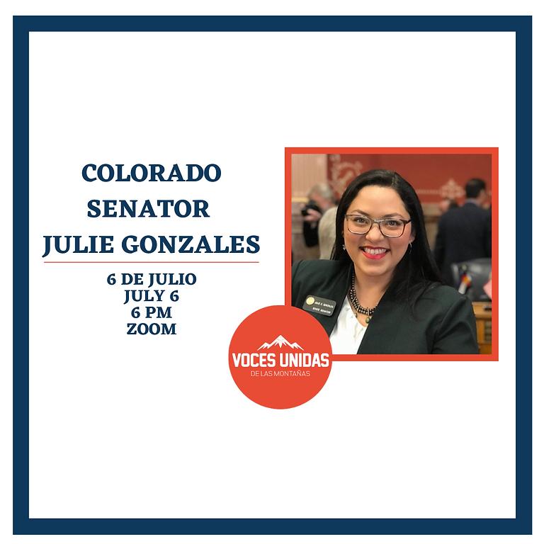 Charla con Senator Julie Gonzales