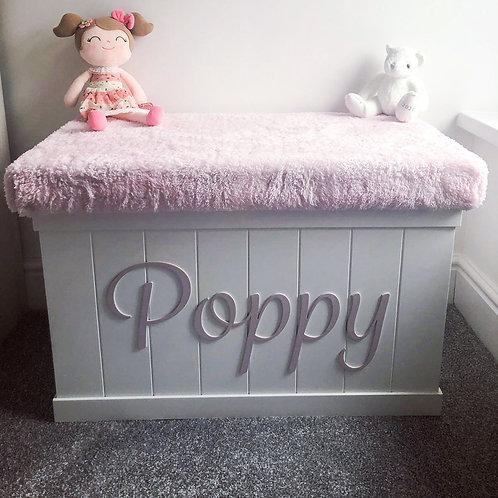Cariad Toy Box with Foam and Fabric Lid