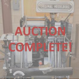 Print Company Auction, Print Auction, Printer Auction, Production Auction, NJ Auctioneers, Auctioneers, New Jersey auction