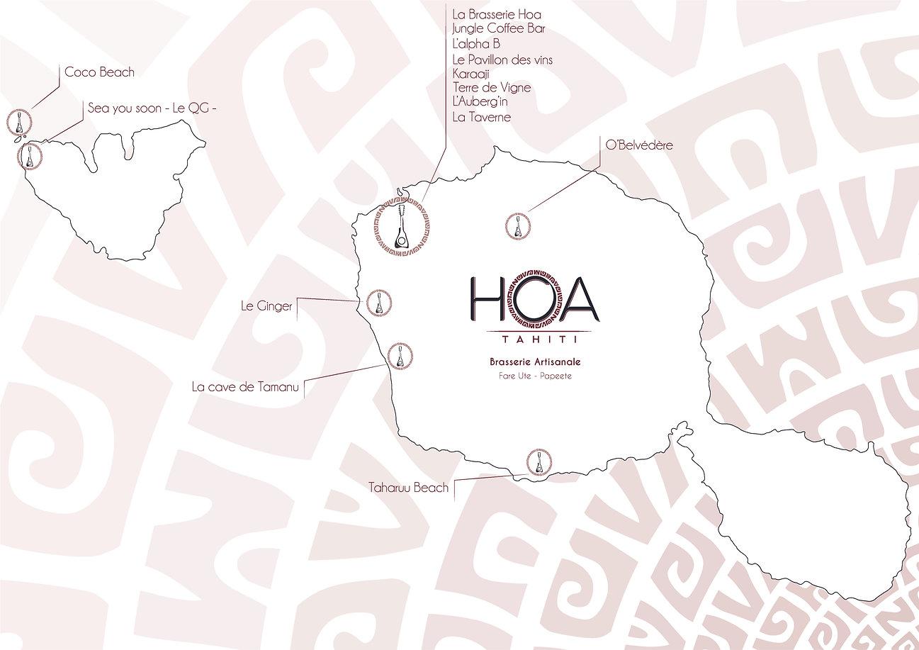 Carte points de vente Tahiti et Moorea L