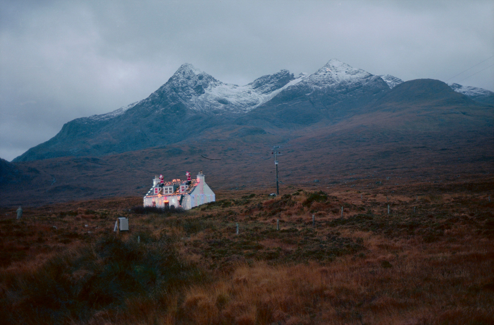 lonely house in the mountains, Skye, Sco