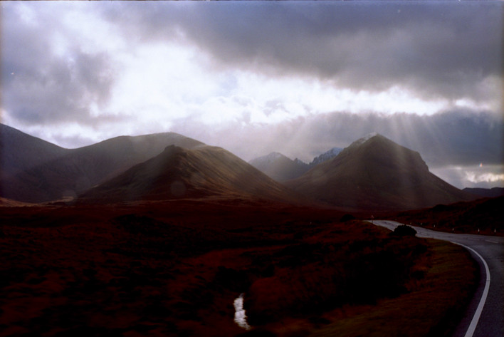 god being sick on some mountains in Skye
