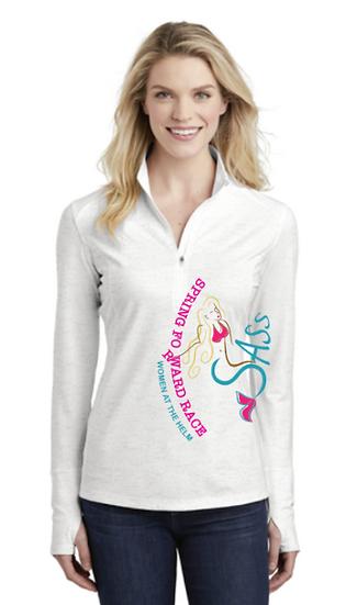 Ladies Long-sleeve 3/4 Zip (Spring Foward)