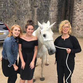Gigging with unicorns #stringquartet #livemusic #magical