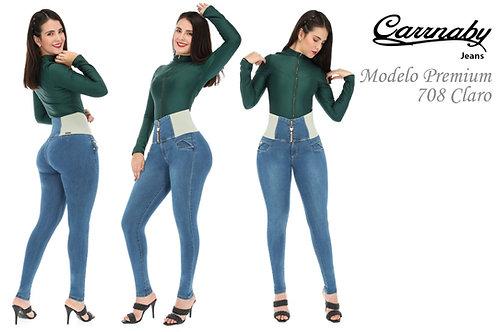 PANTALON CORTE COLOMBIA MODELO 708 CLARO