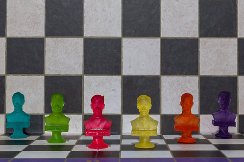 Set of 6 3D printed characters