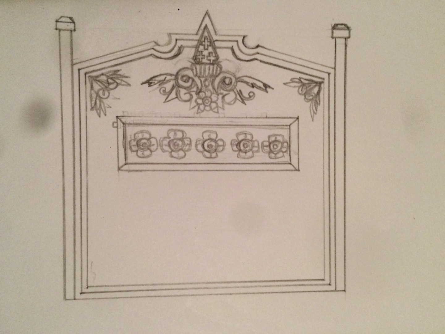 Headboard sketches version 2