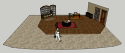 Set in Living Room/Library