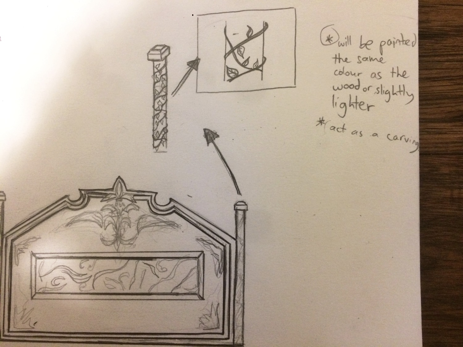 Headboard sketch version 3