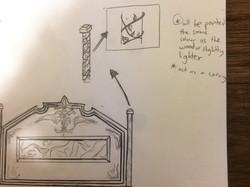 Headboard sketch version 3