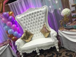 Luxury White Bench