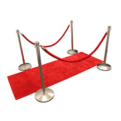 Red Carpet & Red Velvet Stanchions