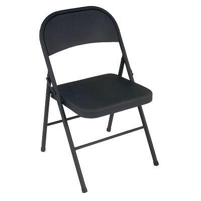 Matte Black Folding Chair