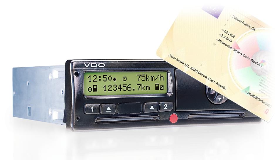 tachograf VDO a paměťová karta