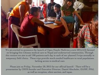 Open Hands Medicine Launch Party!