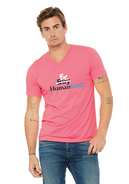 Neon Pink Buy X Be V-neck
