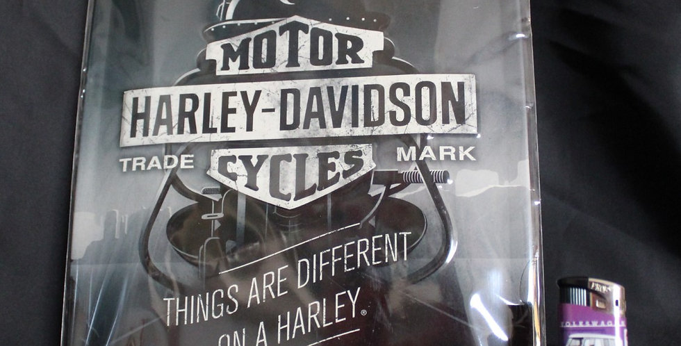Collector metal sign Harley black