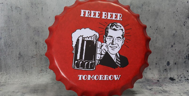 Blik free beer tomorrow
