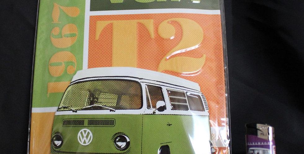 Metal collector sign VW Van