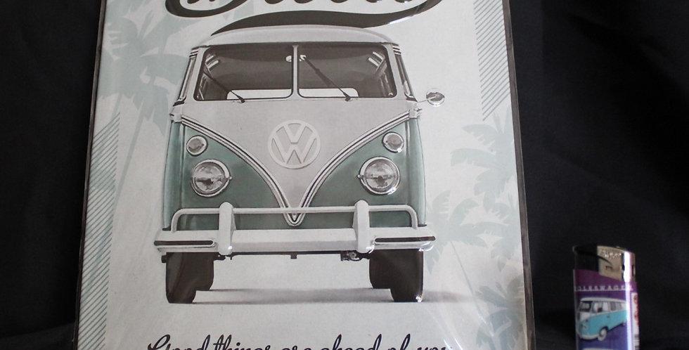 Collector metal sign VW van