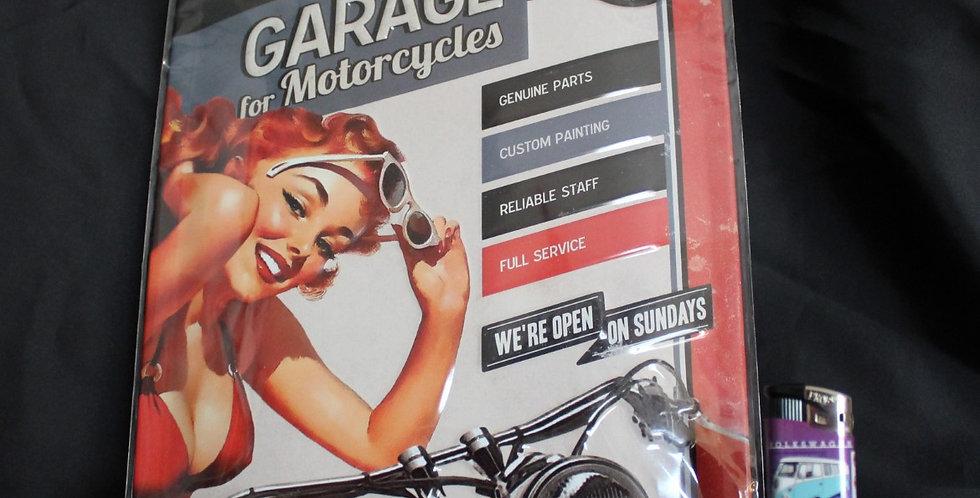 Collector metal sign garage