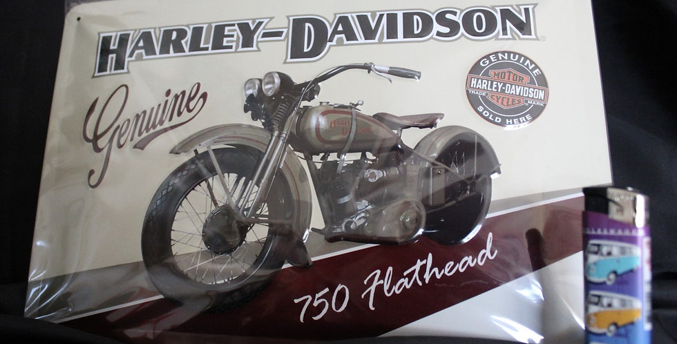 Collector metal sign Harley davidson hothead
