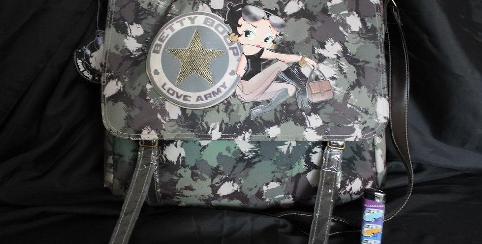 Betty boop army gespels tas