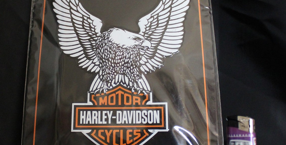 Metal collector sign Harley davidson motorcycles