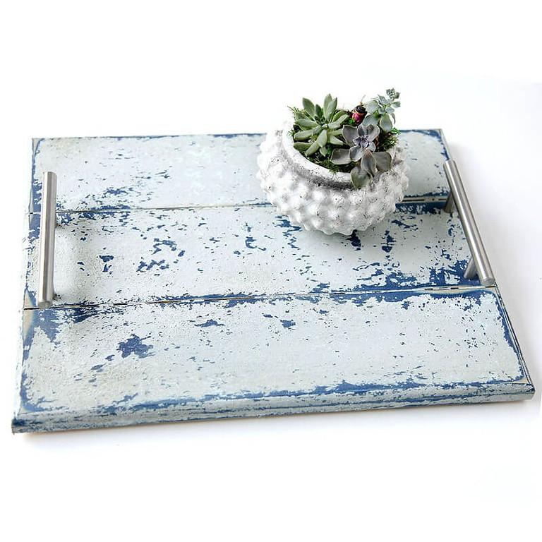 Beach Tablett mit Saltwash und Annie Sloan Chalk Paint