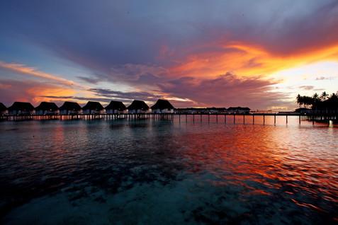 Centara Grand Island Resort & Spa Maldives - Evening of Luxury Sunst Water Villa.JPG