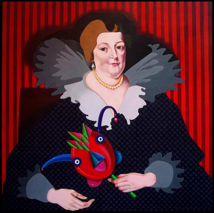 No One Recognized Her in Masquerade (Peter Paul Rubens - 1625 Portrait of Marie de Medici)
