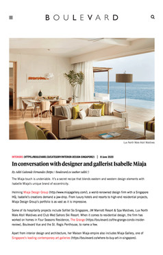 In conversation with designer Isabelle Miaja