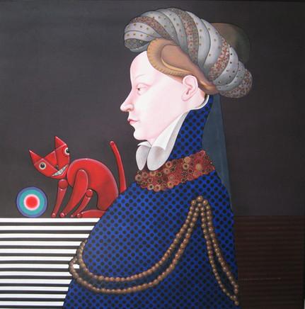 The Cat (Maestro Fiammingo - 1415 Ritratto di Gentildonna)