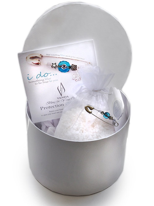 Bridal Blue Protection Heart Pin™ in a Box