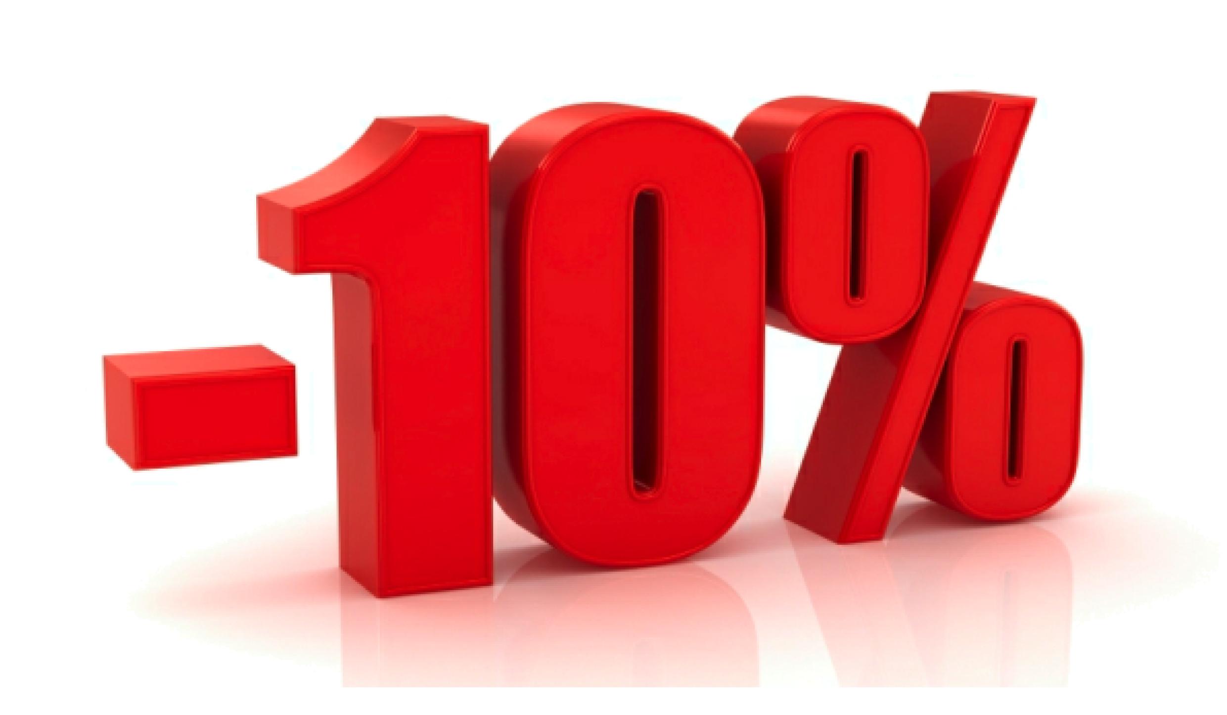10% kedvezményt adunk, ha: