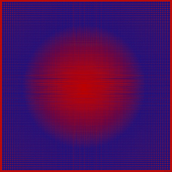 Marte Rojo y Azul