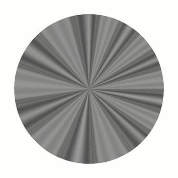 RUEDA 8, 2018, 110x110cm. Impresión Fine Art con inyección de pigmentos minerales sobre papel algodón 340 g/m², blanco natural, acabado metálico de alto brillo. Edición de 5+2P.A.