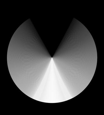 RUEDA 10c, 2018, 100x110cm. Impresión Fine Art con inyección de pigmentos minerales sobre papel algodón 340 g/m², blanco natural, acabado metálico de alto brillo. Edición de 3+2P.A