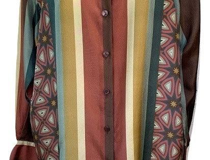 Geometric/ College Stripe Shirt