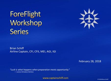ForeFlight Workshop Series 2/28/18