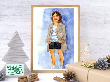 Портрет себя любимого или своего ребенка на столе.